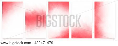 A Set Of Banners With A Delicate Pink Watercolor Background With A Soft Transition To White. For Wed