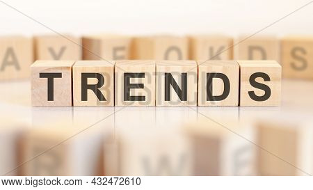 Wooden Blocks With The Word Trends, Concept