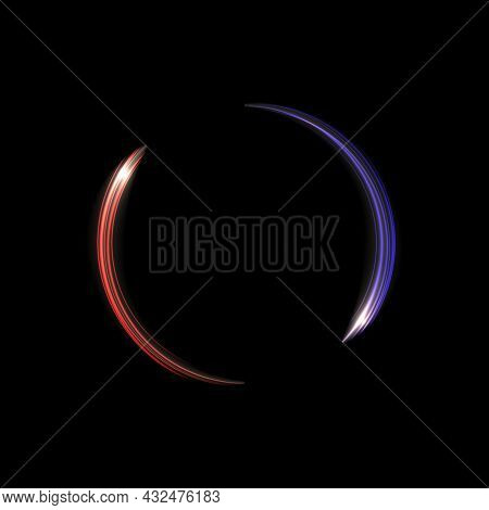 Glow Light Trail Effect. Glowing Flash Trace Isolated