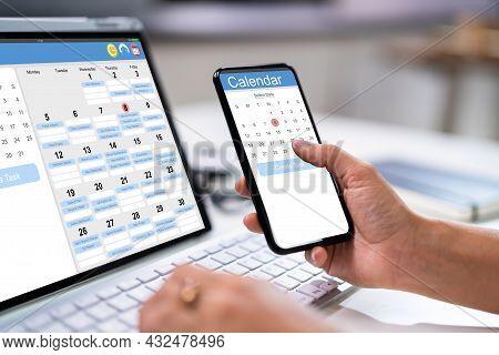 Calendar Schedule Planning. Business Agenda In Office