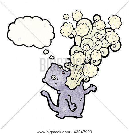 cartoon cat belching