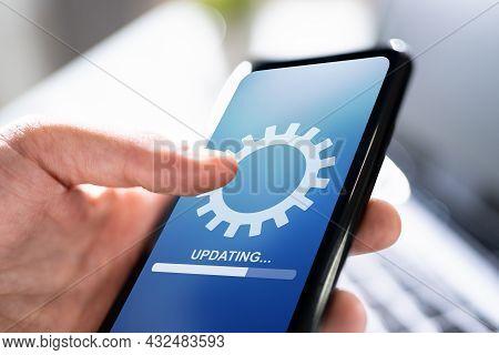 Smart Phone Online Update. Software Upgrade Progress