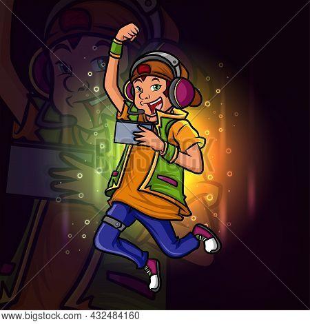 The Winner Of The Gamer Boy Esport Logo Design Of Illustration