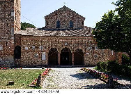 Codigoro - Ferrara, Italy - August 12, 2021: Pomposa Abbey (abbazia Di Pomposa) Is One Of The Most I