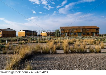 Completely Abandoned Townhouse Development In Jeffery City Wyoming, A Former Uranium Mining Boomtown