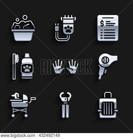 Set Medical Rubber Gloves, Pet Nail Clippers, Carry Case, Hair Dryer, Stroller, Dental Hygiene For P