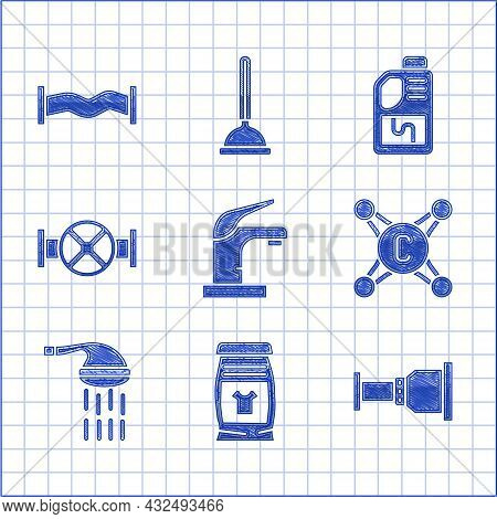 Set Water Tap, Laundry Detergent, Pipe Adapter, Shower, Industry Pipe And Valve, Drain Cleaner Bottl
