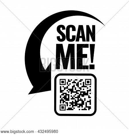 Scan Me Icon. Symbol Or Emblem. Vector