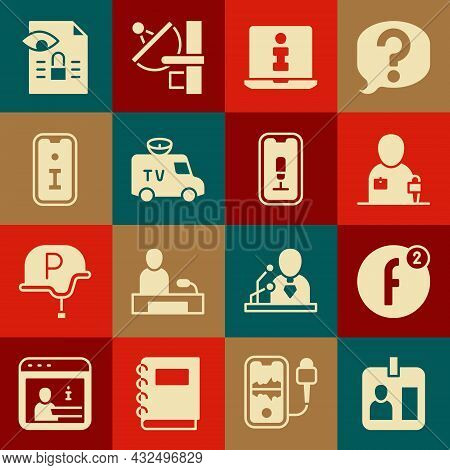 Set Journalist Id Card, Create Account, News, Information, Tv News, Journalistic Investigation And M