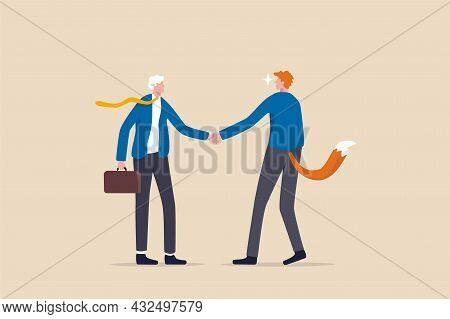 Dishonesty Business Deal, Fraud Or Scam, Liar To Take Advantage From Partner, Cheat Or Hunting For B