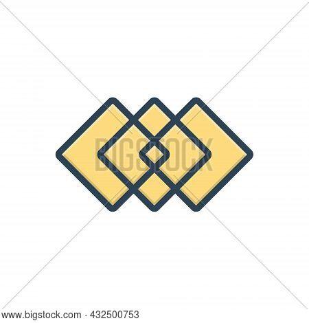 Color Illustration Icon For Overprint Modularize Modular Structure Organization Marketing  Design  D