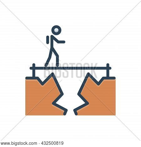 Color Illustration Icon For Challenge Objective Target Goal Aim Achievement Ambition Fearless