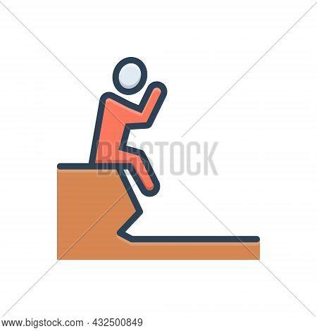 Color Illustration Icon For Failure Fiasco Hoodoo Setback Unsuccessful Depression
