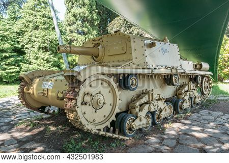 Italian Self-propelled Gun Semovente Da 75-18 (manufacturer Fiat-ansaldo) Of The Second World War Ti
