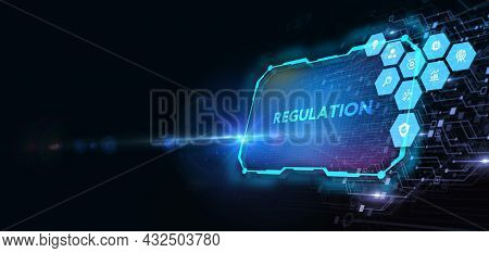 Business, Technology, Internet And Network Concept. Regulation Compliance Rules Law Standard.cfo, Co