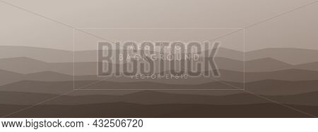 Abstract Modern Background Geometric Peaks Waves Harmonious Combined Natural Pale Colors. Trendy Tem
