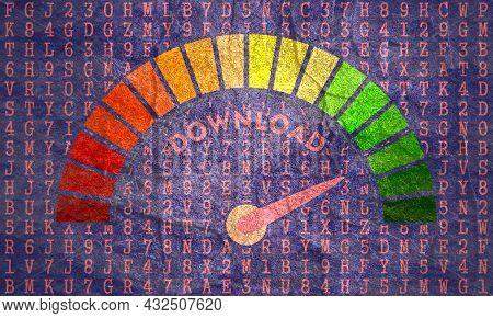 Download Sign Concept. Big Data Download Level