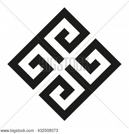 Greek Key Logo. Greek Motives Vector Symbol.