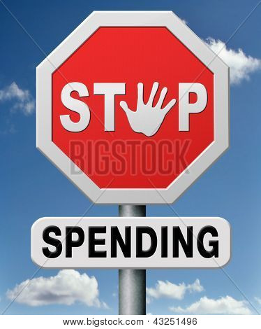 stop spending money on useless things. Budget cuts no wasting resources. Loss of profit.