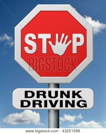 stop drunk driving, don't drink and drive with an alcohol intoxication. Prevention against irresponsible driver.