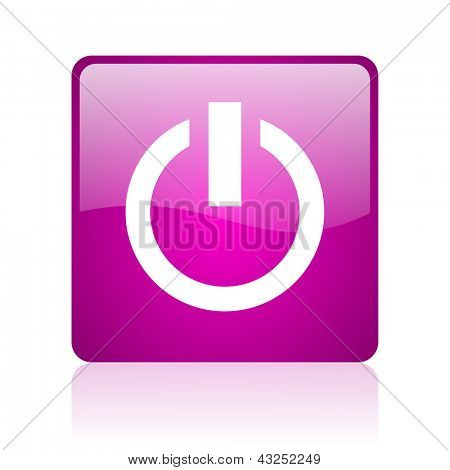 power violet square web glossy icon
