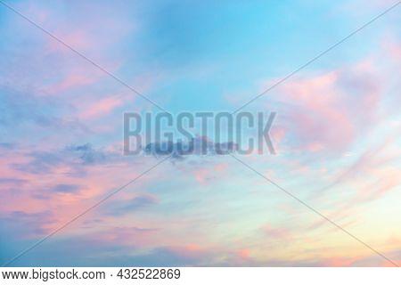 Sunset Or Morning Sunrise Sky