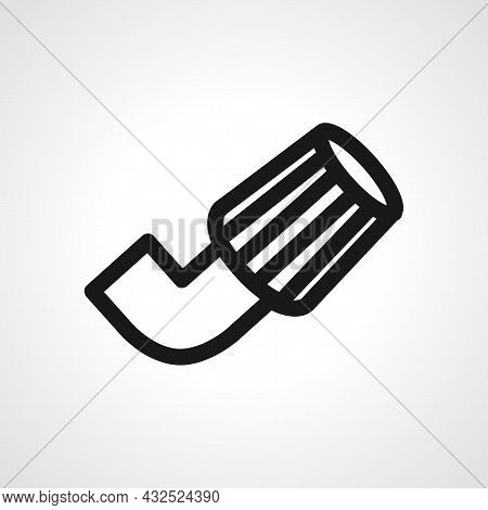 Air Filter Vector Line Icon. Air Filter Linear Outline Icon.