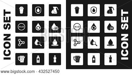 Set Jug Glass With Water, Recycle Clean Aqua, Chemical Formula For H2o, Water Filter Cartridge, Wate
