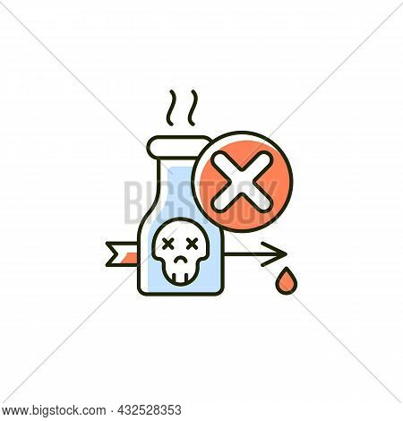 Illegal Poison Hunting Rgb Color Icon. Prohibit Poisonous And Toxic Substances Usage. Poison Hunting