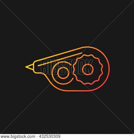 Correction Tape Gradient Vector Icon For Dark Theme. Tool For Handwritten Documents. Correct Mistake
