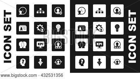 Set Create Account Screen, Head Hunting, Resume, Time Management, With Lamp Bulb, Hierarchy Organogr