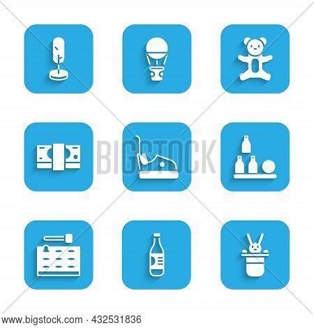 Set Bumper Car, Bottle Of Water, Magician Hat And Rabbit, Bottles Ball, Arcade Game Machine, Stacks