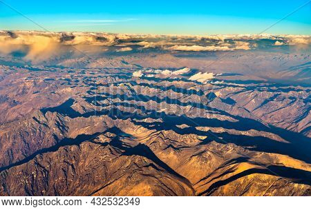 Aerial View Of The Andes Mountains In Central Peru