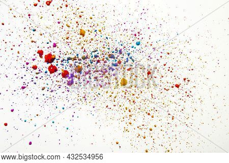 Colorful Mess Watercolor Drops. High Quality Beautiful Photo Concept