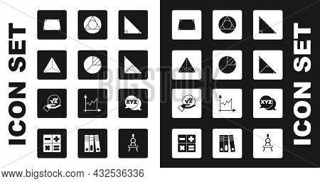 Set Triangle Math, Pie Chart Infographic, Geometric Figure Tetrahedron, Acute Trapezoid Shape, Angle