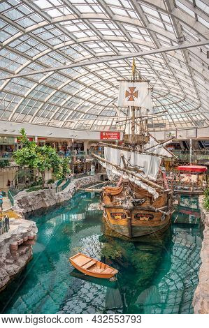 Edmonton, Alberta - August 1, 2021: Inside The West Edmonton Mall Which Was Once The Largest Mall In