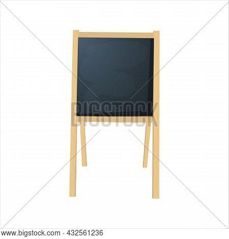 Special Menu Announcement Board. Vector Clean Restaurant Outdoor Blackboard Background.