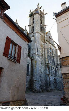 Church Notre-dame De Moret-sur-loing. Moret-sur-loing Is A Commune In Seine-et-marne Department In T
