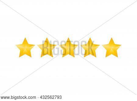 Evaluation, Rating, Stars Icon. Vector Illustration. Flat Design.