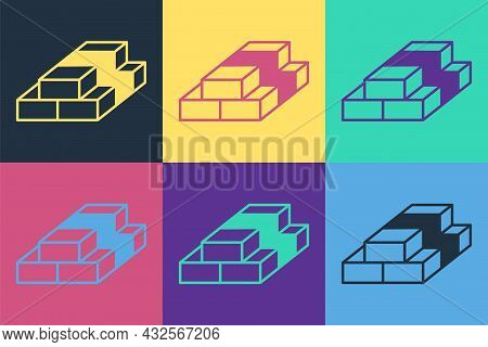 Pop Art Stacks Paper Money Cash Icon Isolated On Color Background. Money Banknotes Stacks. Bill Curr