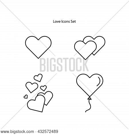 Heart Icon . Simple Heart , Love Logo. Love Icon Sign. Love Hearts, Heart Icon Vector Isolated On Wh