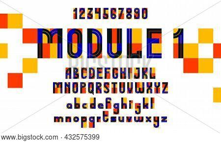 Abstract Geometric Modern Font Vector Typeset, Logo Creation Alphabet Minimal Tech Linear Geometry S