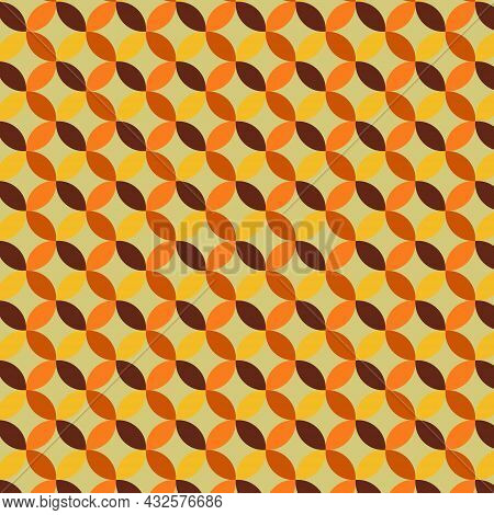 Geometric Shape Seamless Pattern. Brown Orange Yellow Color Background Design For Backdrop,wallpaper