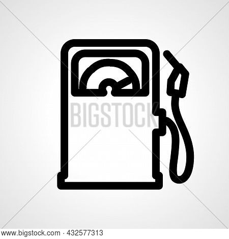 Gas Station Vector Line Icon. Gas Station Linear Outline Icon.