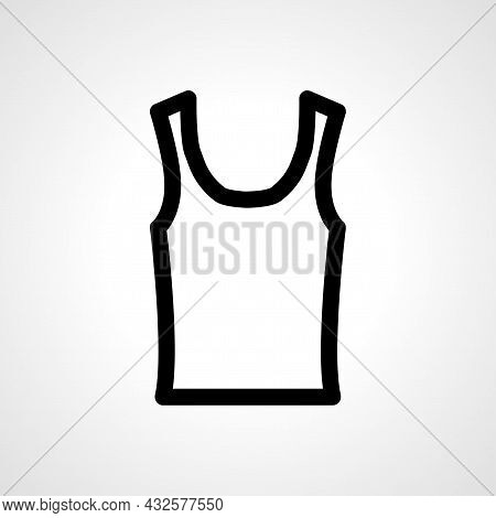 Undershirt Vector Line Icon. Undershirt Linear Outline Icon.