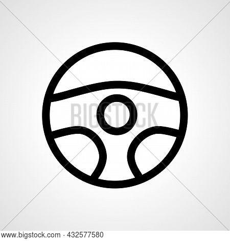Steering Wheel Vector Line Icon. Steering Wheel Linear Outline Icon.