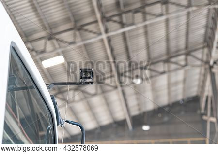 Close Up Car Security Cameras On Trucks To Detect Theft And Safety In Transportation