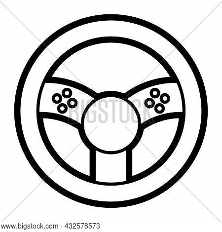 Isolated Rudder For Driving Video Games Icon Vector