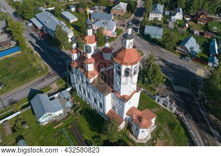 Ancient Church Of The Entry Of The Lord Into Jerusalem Close Up On August Afternoon. Top View. Totma