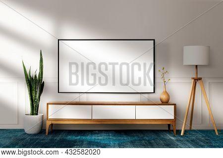 TV in modern living room